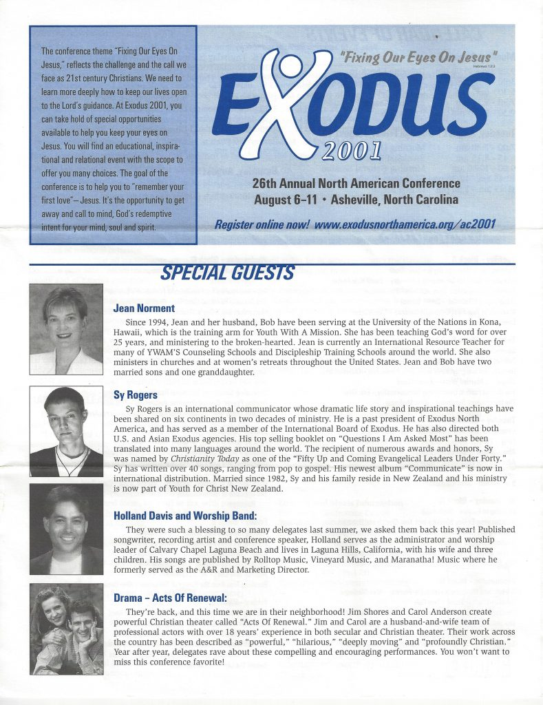 EXODUS INTERNATIONAL 26TH ANNUAL NORTH AMERICAN CONFERENCE