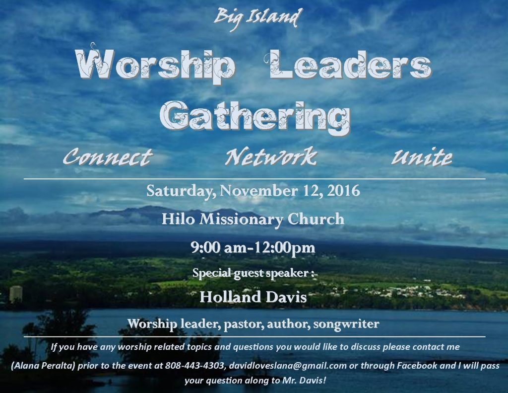 Big Island Worship Leaders Gathering